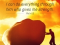 I can do everything through him who gives me strength